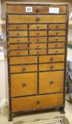 A miniature specimen cabinet