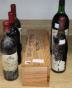 One Chateau Bel Air 1986 (magnum), one Chateau Pique Caillou, 1981 (magnum), one Chateau Pibrau