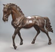 A modern bronze of a stallion height 46cm