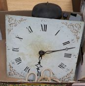 An early 19th century 30 hour longcase clock movement
