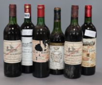 Two bottles of Ch. Beychevelle 1975, one bottle of Ch. Lynch Bages 1975, one bottle of Ch.