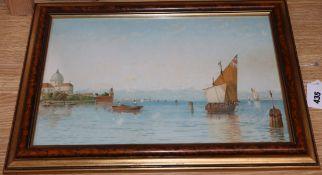 After G S Walters, chromolithograph, San Pietro, Venice, 24 x 39cm