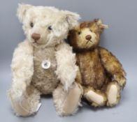 A Steiff 1906 replica caramel bear, 45cm and a Steiff brown bear 35 30cm