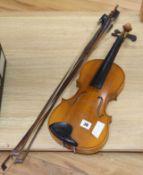 A Chinese violin and three bows