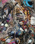 A large quantity of mixed costume jewellery