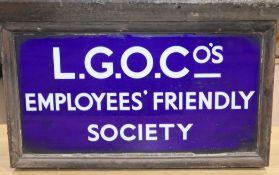 An LGOC Employees Friendly Society sign
