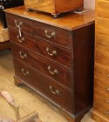 A George III mahogany chest of five drawers W.111cm