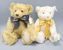 A Steiff champagne replica bear, 40cm and a Centenary Jubilee bear, 44cm
