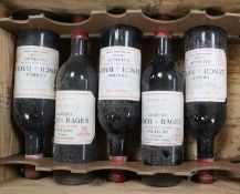 Five bottles of Lynch Bages 1970