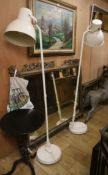 A pair of contemporary floor lamps H.180cm