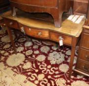 A George III mahogany bow front wash stand W.112cm