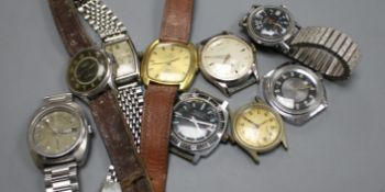 Ten assorted vintage wrist watches, including Verdal, Smiths Empire and Bucherer.
