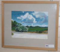 Lisa Micklewright, watercolour, View near Bregancon, 26 x 35cm.