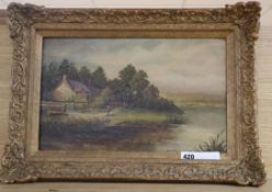 M. L. Beck - oil on canvas, 'On The Avon', signed, 24 x 39cm