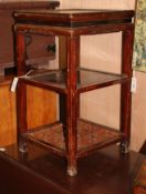 A Korean two tier jardiniere stand H.72cm