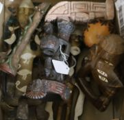 A group of South American carvings etc.