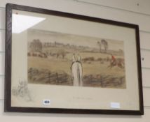 Charles Johnson Payne (Snaffles), limited edition print, 'The Finest View in Europe', signed in