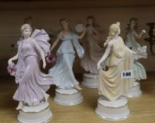 Six Wedgwood 'The dancing hours' figurines