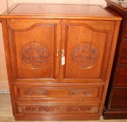 A Chinese padouk wood cabinet W.90cm