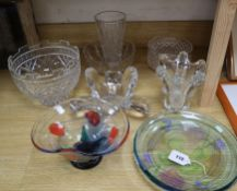 A small collection of Edinburgh Caithness and other glassware