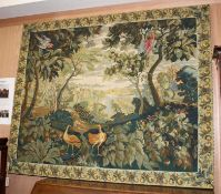 A large Aubusson style polychrome tapestry panel 158 x 130cm