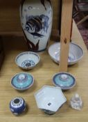 A collection of Oriental ceramics