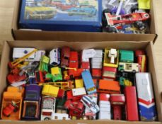 A collection of Dinky, Meccano, Tonka, Matchbox and other diecast vehicles, vintage and later (