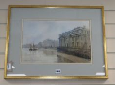Grenville Cottingham (1943-2007), 'Royal Naval College, Greenwich', signed and dated '83,