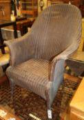 A Lloyd Loom armchair