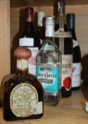 Assorted wines and spirits