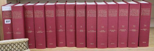 Fourteen volumes G Benedict dictionnaire des peintres sculpteurs dessinateurs et graveurs