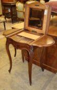 A boudoir Louis XV style walnut enclosed wash stand, W.92cm, D.46cm, H.76cm