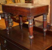 A Victorian mahogany bidet, W.55cm, D.34cm, H.45cm