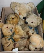 Five vintage bears including two Chad valley