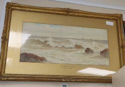 Ernest Stuart (1889-1915), watercolour, 'Near Torquay, S.Devon', signed, 24 x 54cm