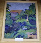 Fyffe Christie (1918-1979), oil on board, Blackheath 1967, signed, 25 x 20cm