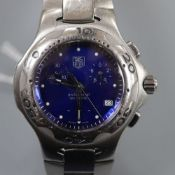 A lady's stainless steel Tag Heuer Professional quartz wrist watch, on stainless steel Tag