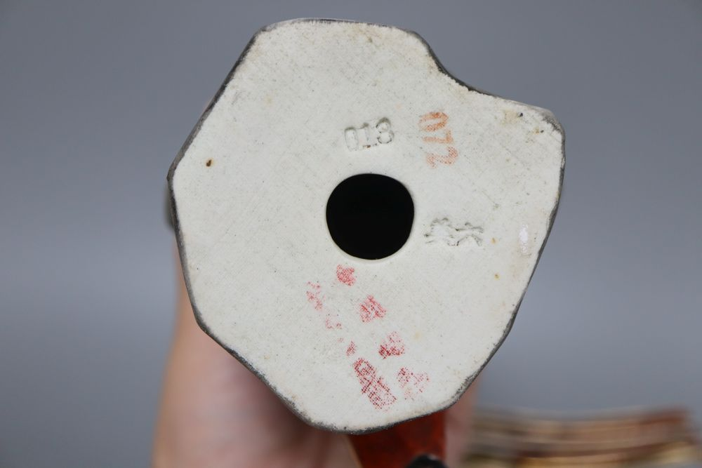 A Chinese yellow ground bowl, a figure, spoon rests etc. - Image 5 of 6