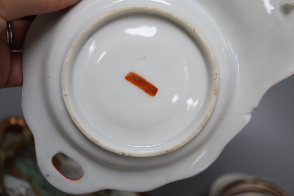 A Chinese yellow ground bowl, a figure, spoon rests etc. - Image 3 of 6