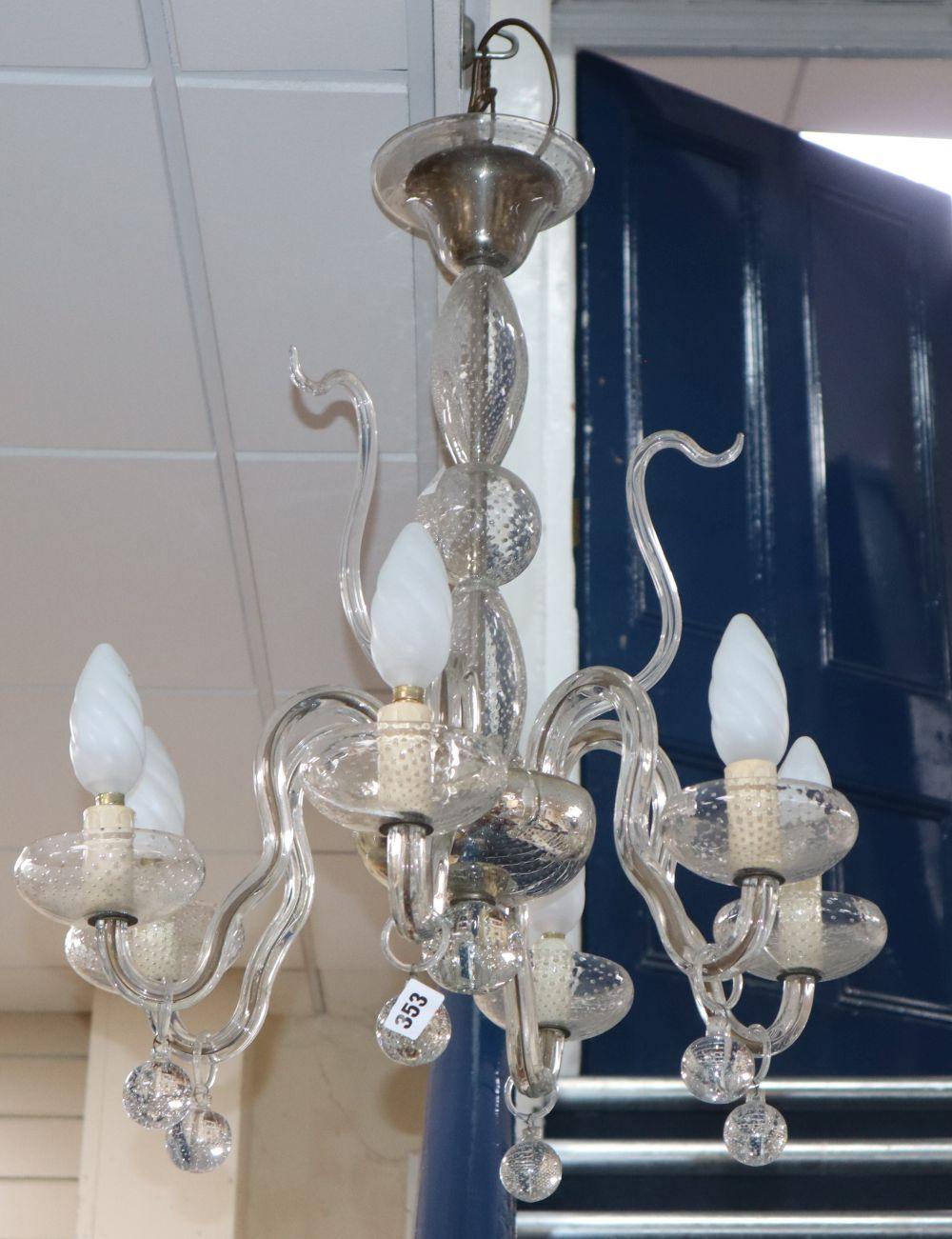 A Venetian glass electrolier