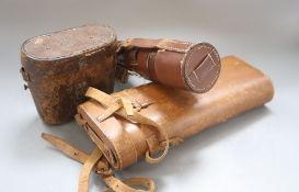 A Dollond London signalling telescope, serial number 10378, a JB Dancer cased pair of binoculars and