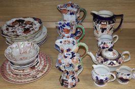 A quantity of Ironstone / Imari pattern ceramics