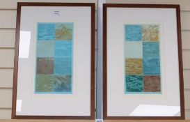 Trevor Price, two drypoint and engraved relief prints, artist proofs, 'Marine Forms I', 45/150