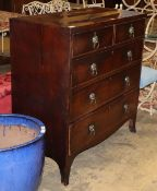 A George IV mahogany chest of drawers, W.107cm, D.50cm, H.107cm