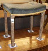A Queen Elizabeth II Coronation stool, W.47cm, D.33cm, H.47cm