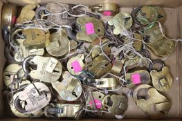 A quantity of old padlocks and keys