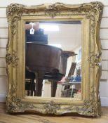 A large gilt framed mirror, frame size 105 x 93cm