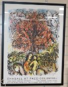 Marc Chagall - Chagall at Pace / Columbus poster, 80 x 60cm