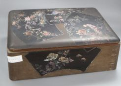 A Japanese mother-of-pearl inlay lacquer box