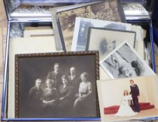 A quantity of old family photographs, etc.